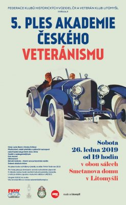 Invitation and information for the 5th Ball of the Academy of Czech Veterans